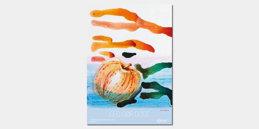 """John Kørner-kunstplakat - Giv en ged-gavekataloget. Motivet er et genoptryk af maleriet """"Objects"""", og plakaten er trykt på bæredygtigt kvalitetspapir i A3-størrelse (29,7 x 42 cm)."""