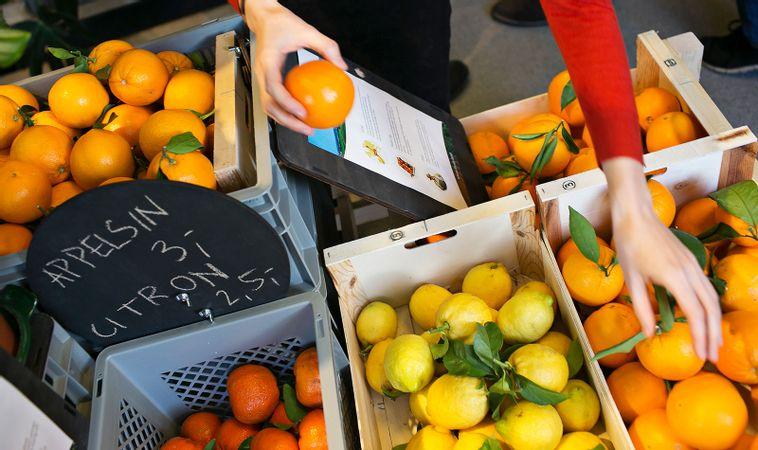 Appelsiner i Wefood butik
