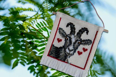 En bordering med en ged som tema.