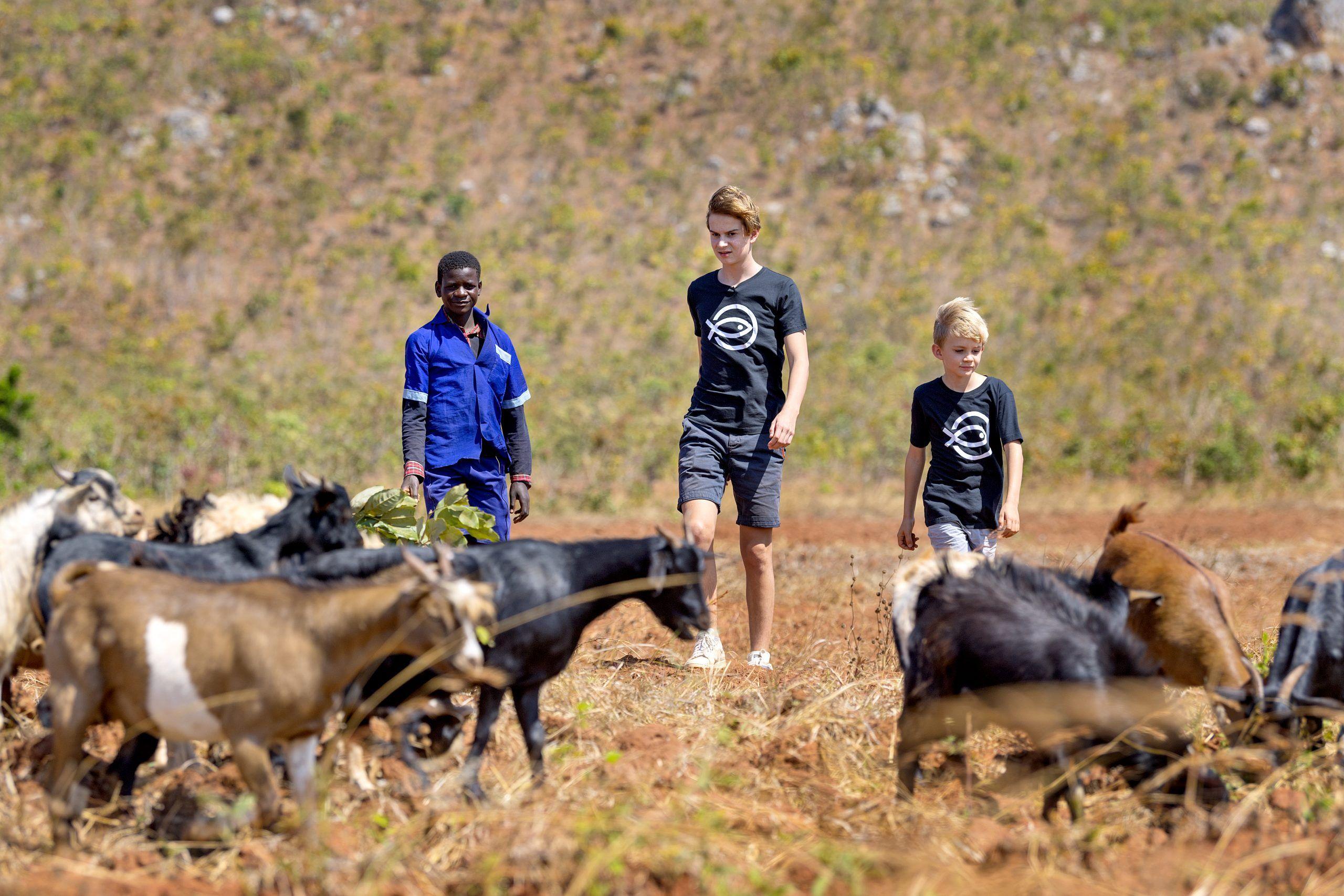 Annette Heick og Jesper Vollmers to sønner i Malawi