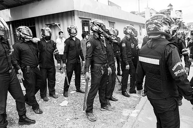 Sikkerhedsvagter i Cambodja