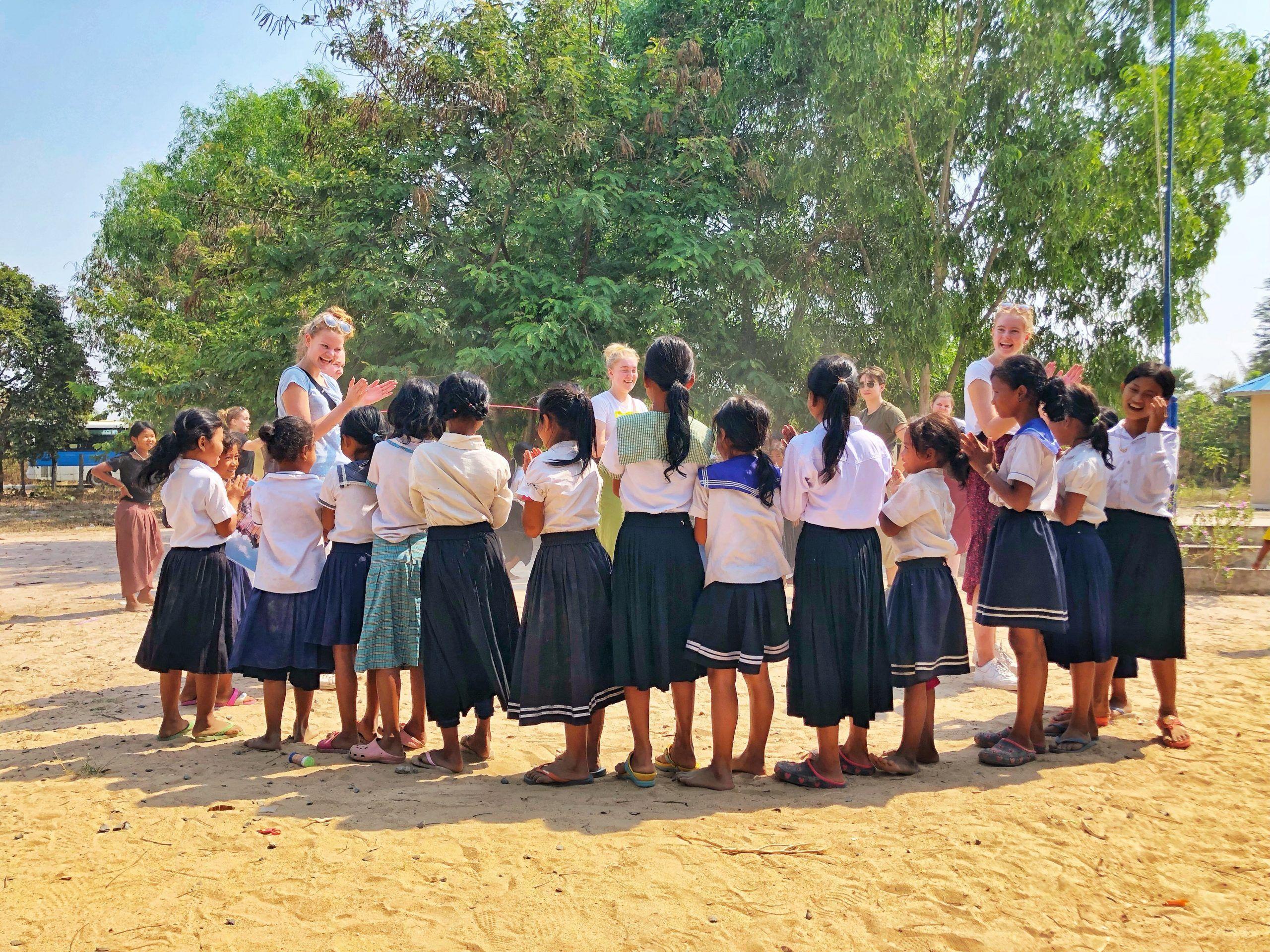 Odsherred elever møder skolebørn i Cambodia