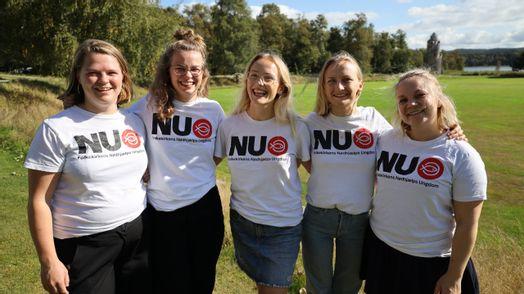 Cecilie, Nanna, Ida, Solveig og Lærke udgør landsstyrelsen i NU