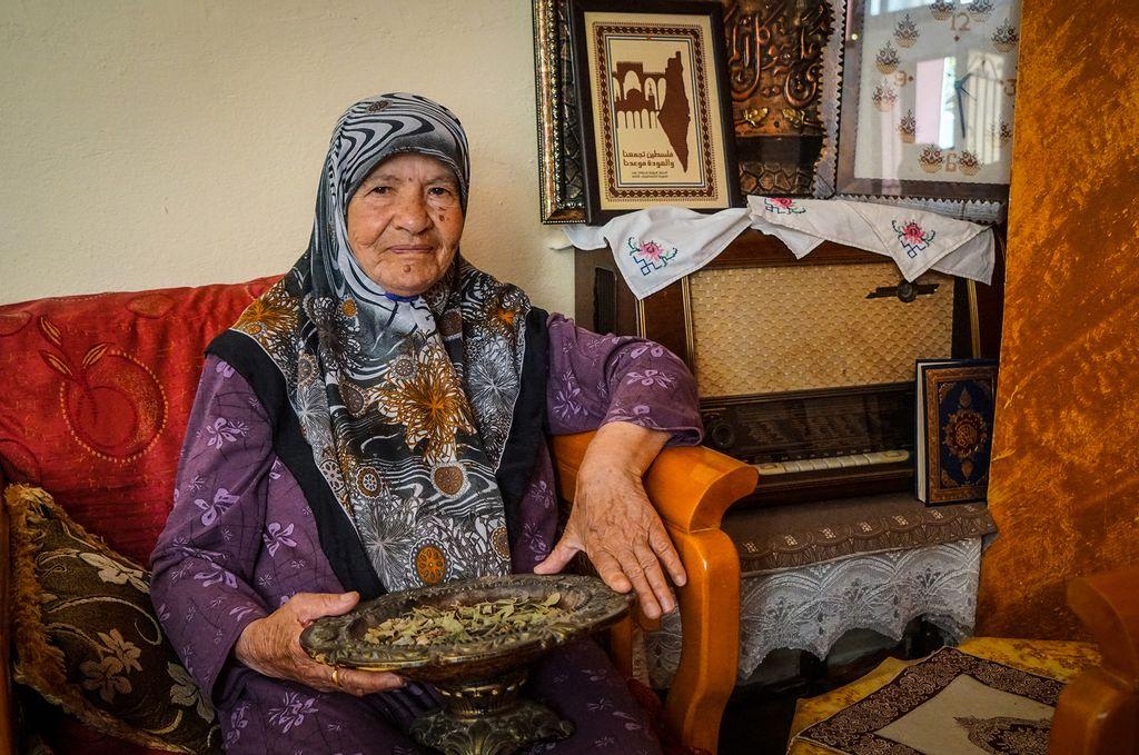 Palæstinensisk flygtning i Libanon Rasmiyeh Abed